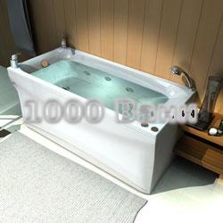 Ванна акриловая АКВАТЕК Альфа 150х70 (с  гидромассажем на электроуправлении) Flat Bronze