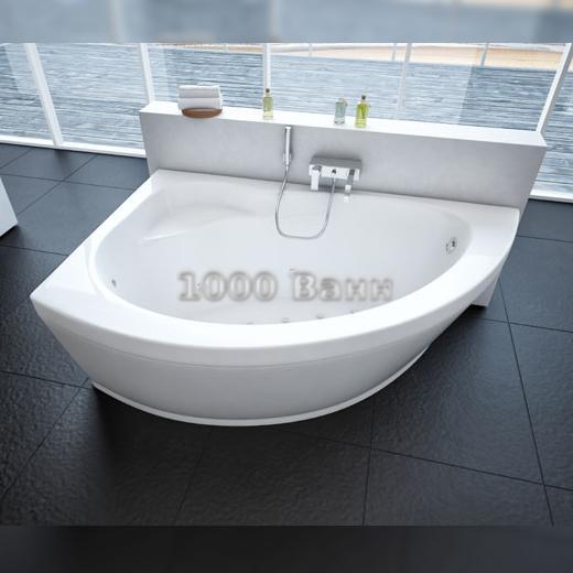 Ванна акриловая АКВАТЕК Аякс 2 170х110 (с гидромассажем) Flat Bronze
