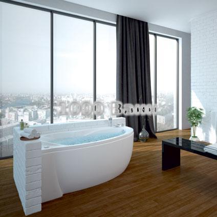 Ванна акриловая АКВАТЕК Бетта 160х97 (с гидромассажем) Premium