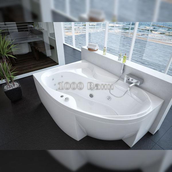 Ванна акриловая АКВАТЕК Вега 170х105 (с гидромассажем на электроуправлении) Standard