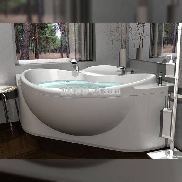Ванна акриловая АКВАТЕК Эпсилон 150х150 (с гидромассажем на электроуправлении) Flat Bronze