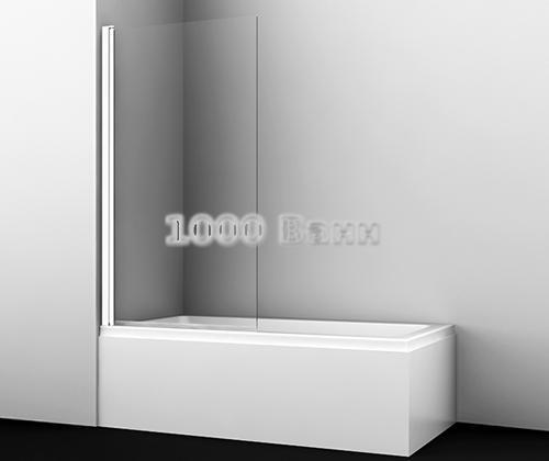 Стеклянная шторка на ванну WasserKRAFT Berkel 48P01-80W 800x1400