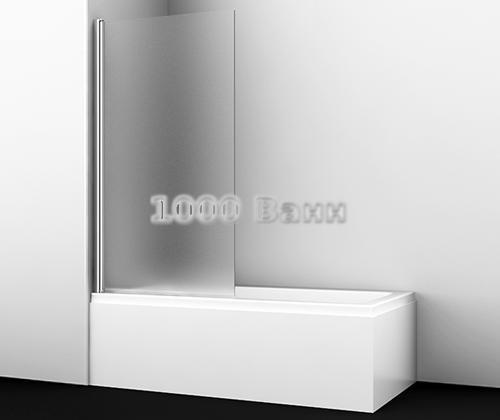 Стеклянная шторка на ванну WasserKRAFT Berkel 48P01-80L Matt glass 800x1400