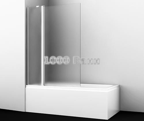 Стеклянная шторка на ванну WasserKRAFT Berkel 48P02-110R Matt glass Fixed 1100x1400