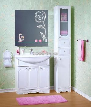 Комплект мебели для ванной Лючия 80 с зеркалом Версаль 80