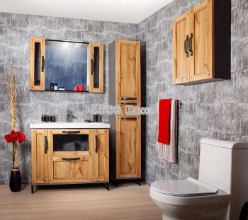 Комплект мебели для ванной Лофт 100 Метрополитен Грэй