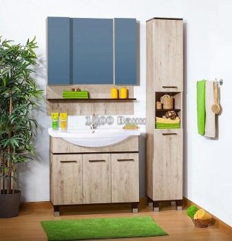 Комплект мебели для ванной Карибы 100 дуб кантри