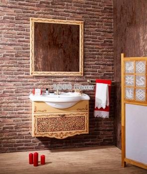 Комплект мебели для ванной Хохлома 85
