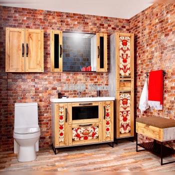 Комплект мебели для ванной Лофт 100 Борецкая роспись