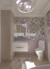 Комплект мебели Triton Ника 75 белый подвесной