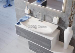 Комплект подвесной мебели Aqwella Genesis 120 серый миллениум
