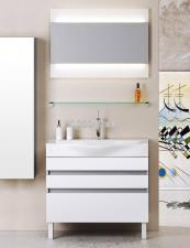 Комплект напольной мебели Aqwella Bergamo 80 белый